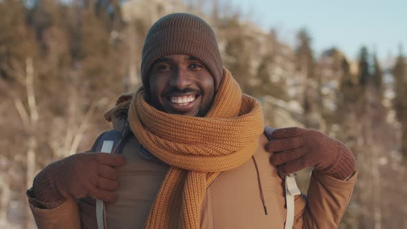 Thumbnail for Portrait Of Black Man In Winter Woods
