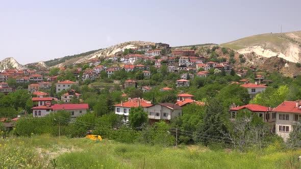 Cute Nostalgic City With Traditional Architecture in Anatolia