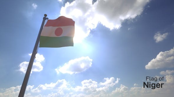 Thumbnail for Niger Flag on a Flagpole V4