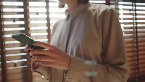 Business Lady Using Smartphone