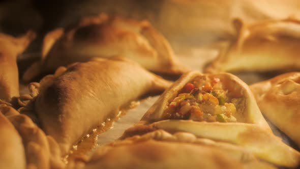 Thumbnail for Typical Argentinian Meal Empanada Cooked in Oven