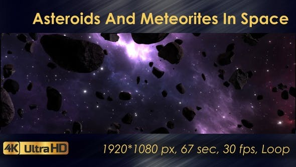 Asteroids And Meteorites In Space