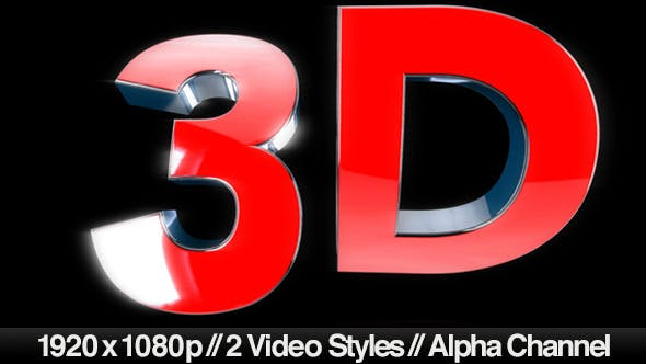 Thumbnail for 3D Text Symbol - 2 Styles