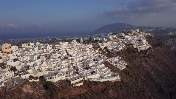 Thumbnail for Aerial Panorama of Fira Town, Santorini