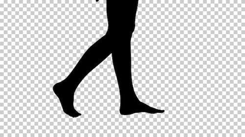 Silhouette Frau gehend, Alpha Channel