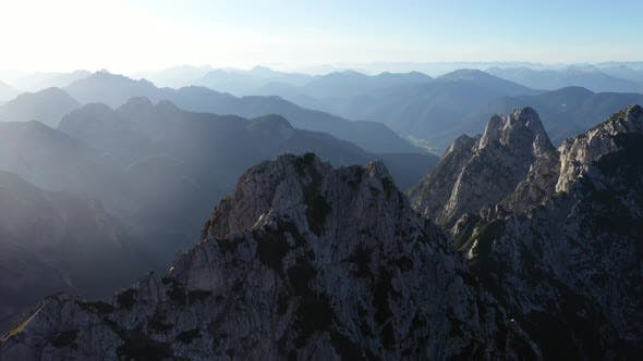 Thumbnail for Flight above mountains peak in julian alps,Mangart,Triglav National Park
