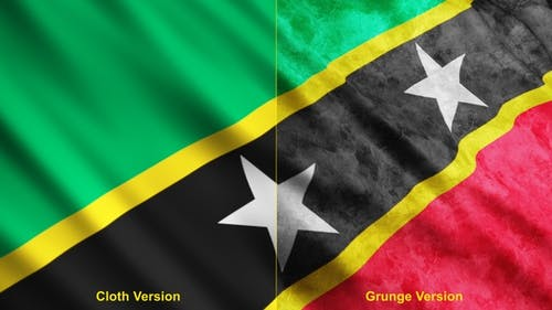 Saint Kitts And Nevis Flags