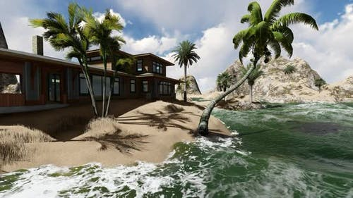 Oceanfront villa by day