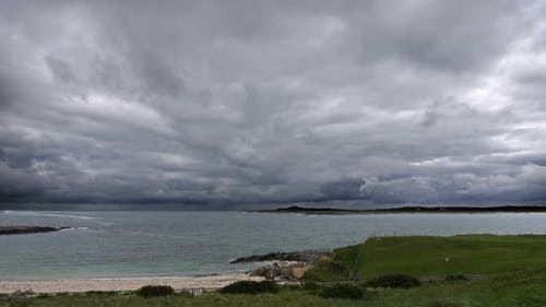 Ominous Storm Clouds Over Ocean