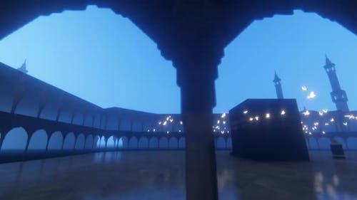 Swallow birds Circulating the Kaaba