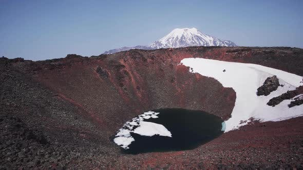 Thumbnail for Crater of the Volcano Cherpuk in Kamchatka. Not Far From Ichinsky Volcano, Inaccessible Region