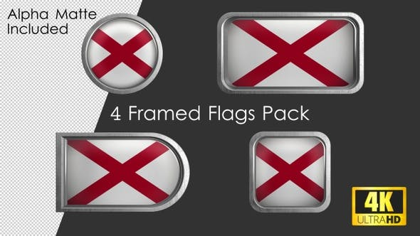 Thumbnail for Alabama State Flag Framed