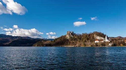 4K Timelapse Lake Bled Castle, Slovenia 3