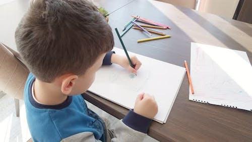 Little Boy Kid Drawing