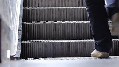 Escalator Stairs Close Up