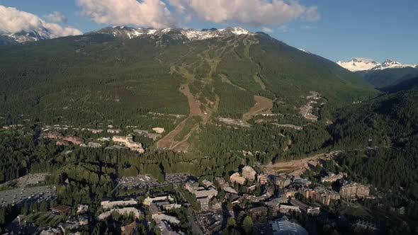Thumbnail for Whistler Village And Blackcomb Mountain On Sunny Summer Day
