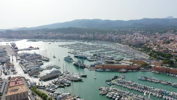 Thumbnail for Aerial Drone Video Footage of Marina Palma De Mallorca