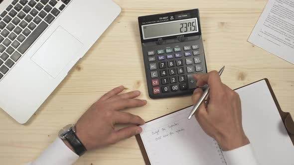 Writing calculations on an agenda