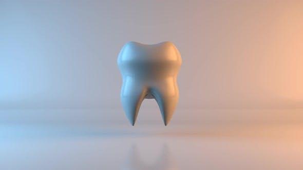 Concept de santé d'une dent rendue