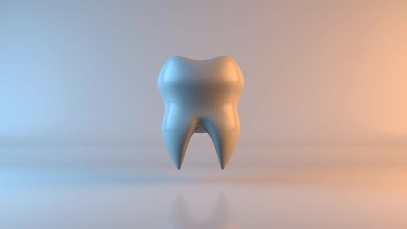 Health concept of a rendered tooth