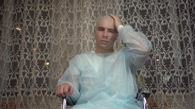 Cancer Patient on a Wheelchair