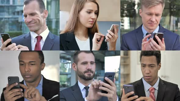 Thumbnail for Collage of Business People Using Smartphone