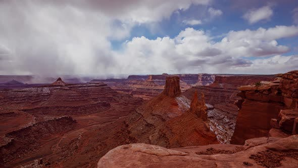 Thumbnail for Cloud Time Lapse Canyons Utah Landscape