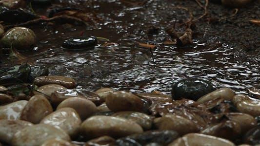 Rain on Pebble with Sound