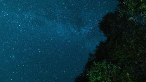 Timelapse of the Starry Night Sky