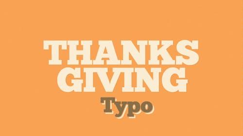 ThanksGiving Typo