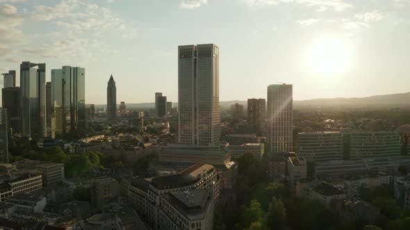 Thumbnail for Beautiful Evening Summer Sun Over Frankfurt Am Main, Germany Cityscape Skyline in June 2020