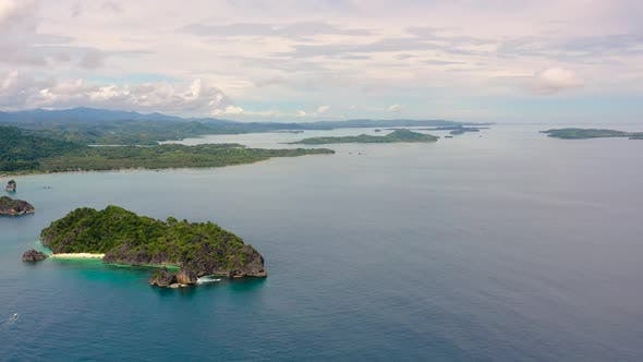 Thumbnail for Caramoan Islands, Camarines Sur, Matukad. Philippines. Tropical Island with a White Sandy Beach