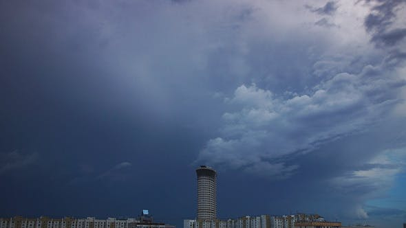 Thumbnail for Storm Cloudscape In City