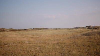 Wide Shot of Dry Barren Hills