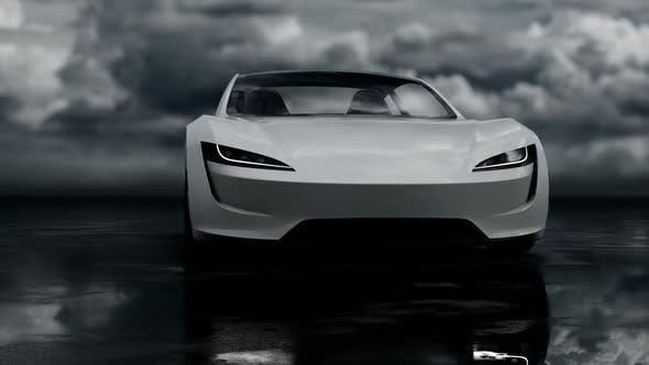 Luxury White Sports Car