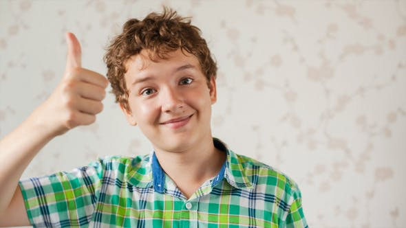 Thumbnail for Teenager Boy Communicates by Webcam