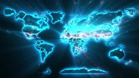 Map Of World  Across Country Outbreaks Of Diseases Epidemics Spread Of Crisis Emergency Events 4k
