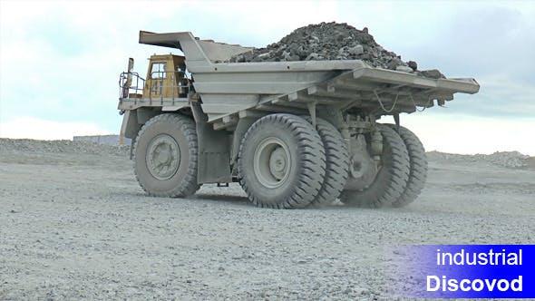 Thumbnail for Heavy Mining Dump Trucks Moving Opencast 01