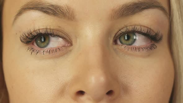 Thumbnail for Close-up Shot of the Eyes of a Pretty Blonde
