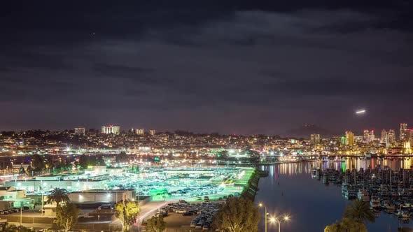 San Diego NachtZeitraffer