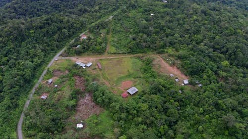 Aerial view of an indigenous community