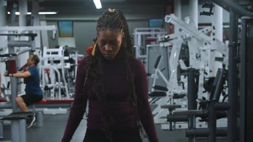 Insecure Black Woman in the Gym
