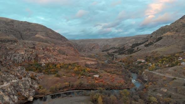Thumbnail for Vardzia Flora In Autumn.Fly Over