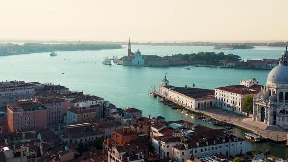 Thumbnail for Venice, View of Grand Canal and Basilica of Santa Maria Della Salute. Italy.