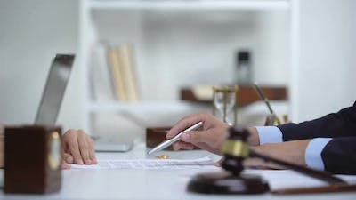 Attorney Showing Woman Where to Sign Divorce Document, Legal Consultation