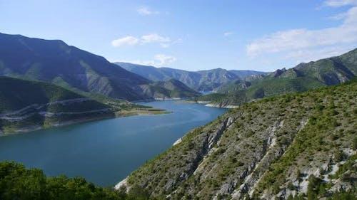 Nature Vardar River in tranquil idyllic scene, Matka Canyon, Macedonia