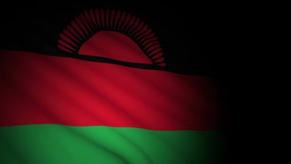 Thumbnail for Malawi Flag Blowing in Wind