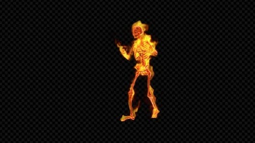 Fiery Skeleton Hip-Hop Dance