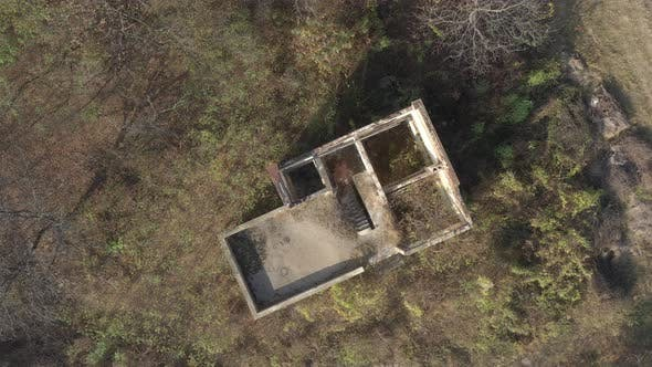 Thumbnail for Abandoned building aerial drone  4K footage