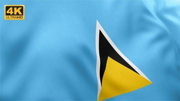 Thumbnail for Flag of Saint Lucia - 4K